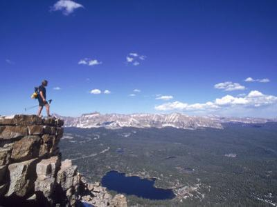 Hiker, Bald Mt, High Uintas, UT by Cheyenne Rouse