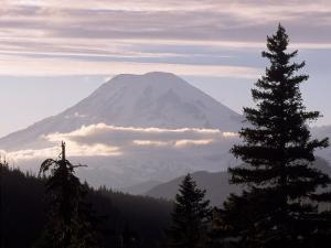 Mt. Rainier with Clouds, Mt. Rainier National Park, WA by Cheyenne Rouse