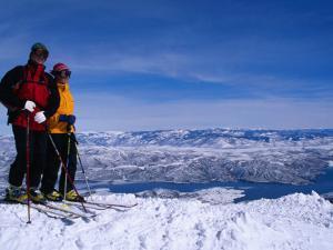 Skiiers in Deer Valley, Park City, Park City, Utah, USA by Cheyenne Rouse