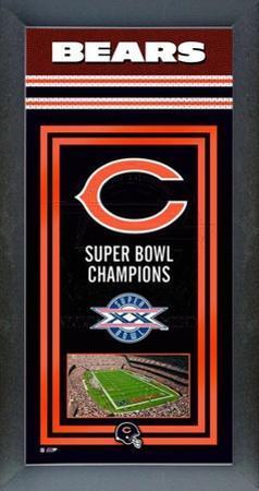 Chicago Bears Framed Championship Banner