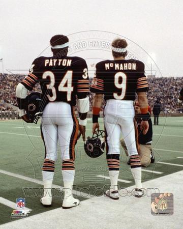 Chicago Bears - Jim McMahon, Walter Payton Photo