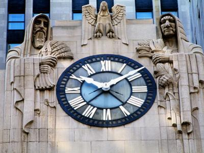 Chicago Board of Trade Building Clock, Chicago, Cook County, Illinois, USA