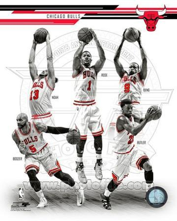 Chicago Bulls - Carlos Boozer, Luol Deng, Derrick Rose, Joakim Noah, Jimmy Butler Photo