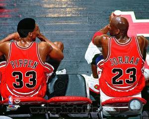 Chicago Bulls - Michael Jordan, Scottie Pippen Photo