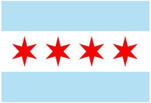 Chicago City Flag Poster Print