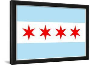 Chicago City Flag Poster Print