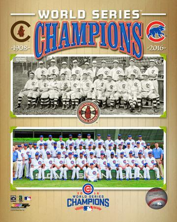 Chicago Cubs 1908 & 2016 World Series Champions Composite