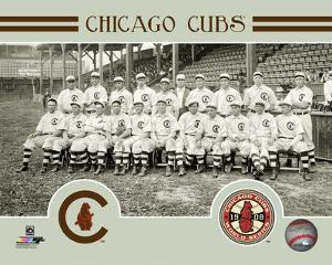 Chicago Cubs 1908 World Series Champions Team Sit Down Photo