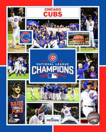 Chicago Cubs 2016 National League Champions Composite