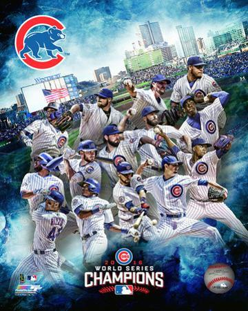Chicago Cubs 2016 World Series Champions Team Composite