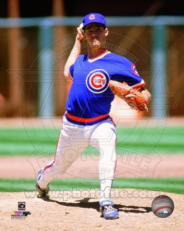 Chicago Cubs Greg Maddux 1989 Action