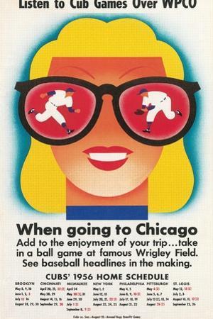 Chicago Cubs Schedule 1956