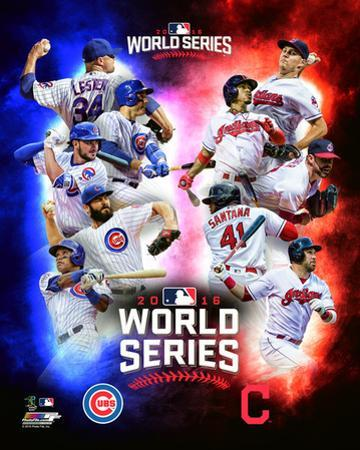 Chicago Cubs Vs. Cleveland Indians 2016 World Series Matchup Composite