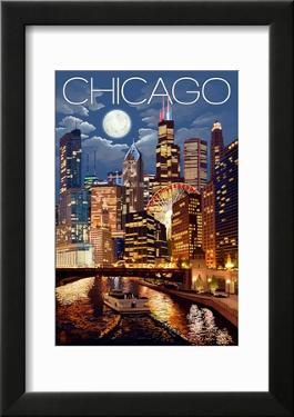 Chicago  Illinois - Skyline at Night