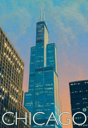 Chicago, Illinois, View of the Sears Tower