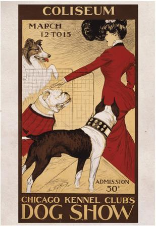 Chicago Kennel Clubs Dog Show Vintage Ad Poster Print