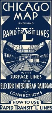 Chicago Map Rapid Transit Lines