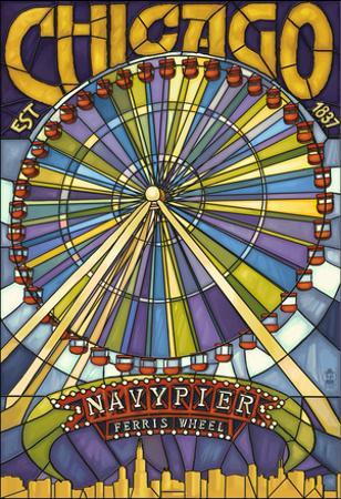 Chicago's Navy Pier and Ferris Wheel