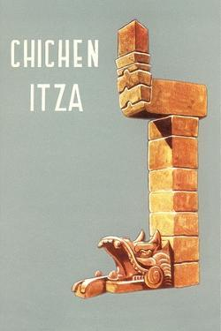 Chichen Itza, Mexican Travel Poster