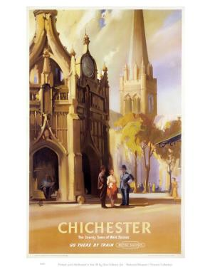 Chichester, West Sussex Clock Tower and Cathedral