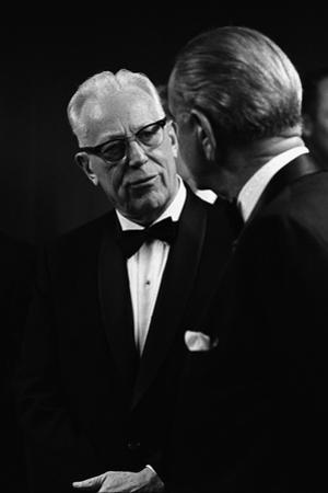 Chief Justice Earl Warren Speaking with President Lyndon Johnson, May 11, 1968