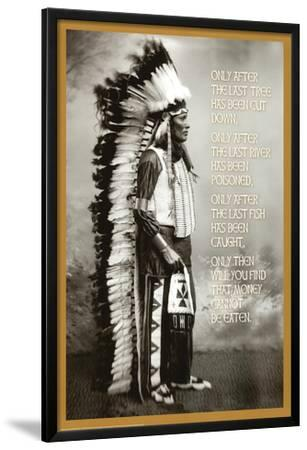 Chief White Cloud (Native American Wisdom) Art Poster Print