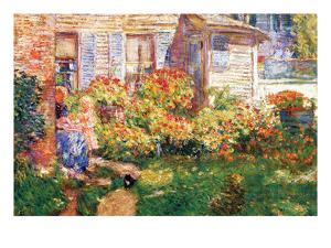 A Fishing Hut in Gloucester by Childe Hassam