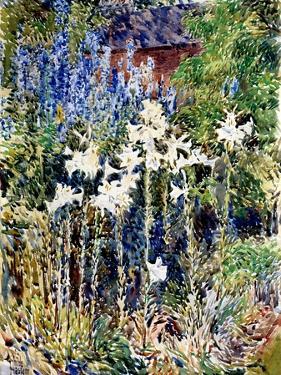 A Flower Garden, 1893 by Childe Hassam