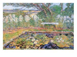 A Garden on Long Island by Childe Hassam