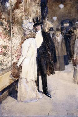 A New Year's Nocturne, New York, 1892 by Childe Hassam