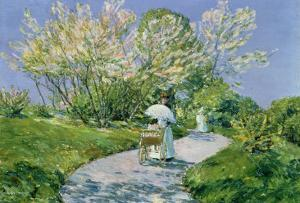 A Walk in the Park by Childe Hassam