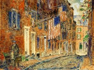 Acorn Street, Boston, 1919 by Childe Hassam