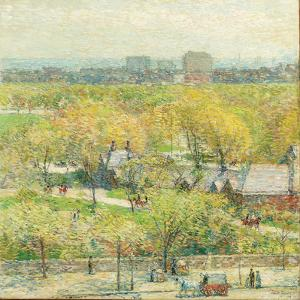 Across the Park, 1904 by Childe Hassam
