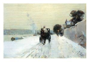 Along the Seine by Childe Hassam