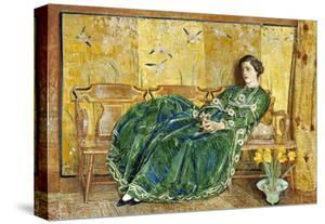 April (The Green Gown), 1920 by Childe Hassam