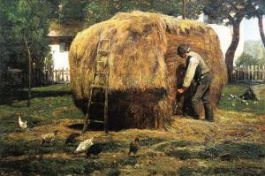 Barnyard by Childe Hassam