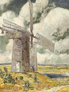 Bending Sail on the Old Mill, 1920 by Childe Hassam