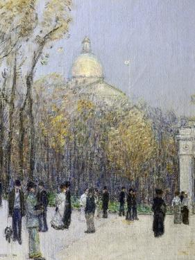 Boston Commons, c.1901 by Childe Hassam