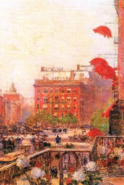 Broadway and Fifth Avenue by Childe Hassam