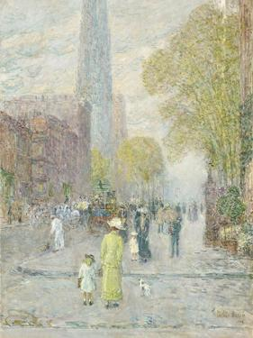 Cathedral Spires, Spring Morning, 1909 by Childe Hassam