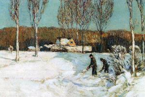 Childe Hassam Snow Shovels New England by Childe Hassam