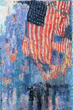 Childe Hassam Street in the Rain by Childe Hassam