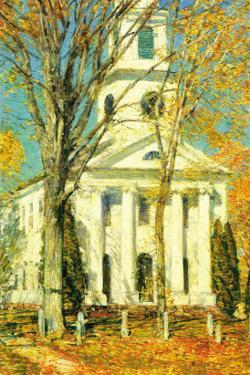 Church At Old Lyme, Connecticut by Childe Hassam