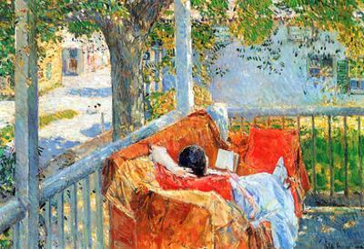 Childe Hassam Couch and Veranda at Cos Cob Art Print Poster