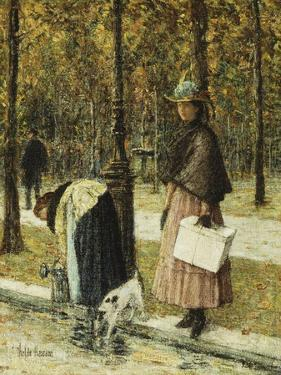 Evening, Champs-Elysees by Childe Hassam
