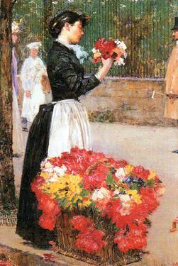 Flower Girl by Childe Hassam