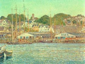 Gloucester Harbour, 1917 by Childe Hassam