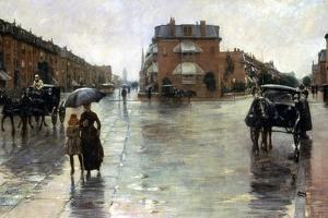 Hassam: Rainy Boston, 1885 by Childe Hassam