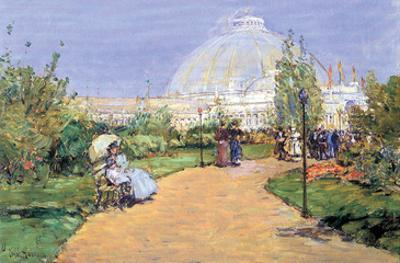 House of Gardens, World's Columbian Exposition, Chicago by Childe Hassam