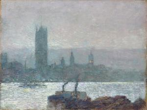 Houses of Parliament, Early Evening, 1898 by Childe Hassam